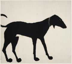 Kate Boxer, Black Dog, Contemporary Art, Dog Art, Limited Edition Print