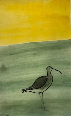 Kate Boxer, Curlew, Limited Edition Bird Print, Contemporary Art, Affordable Art