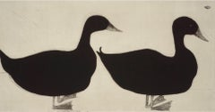 Kate Boxer, Ducks, Contemporary Animal Prints, Drypoint Print, Minimalistic Art