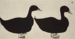 Kate Boxer, Ducks, Contemporary Animal Prints, Drypoint Print, Minimalistic Art