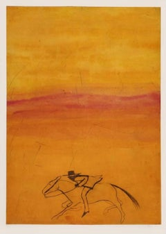 Kate Boxer, It's Today I Think (orange and red cowboy), Contemporary Prints