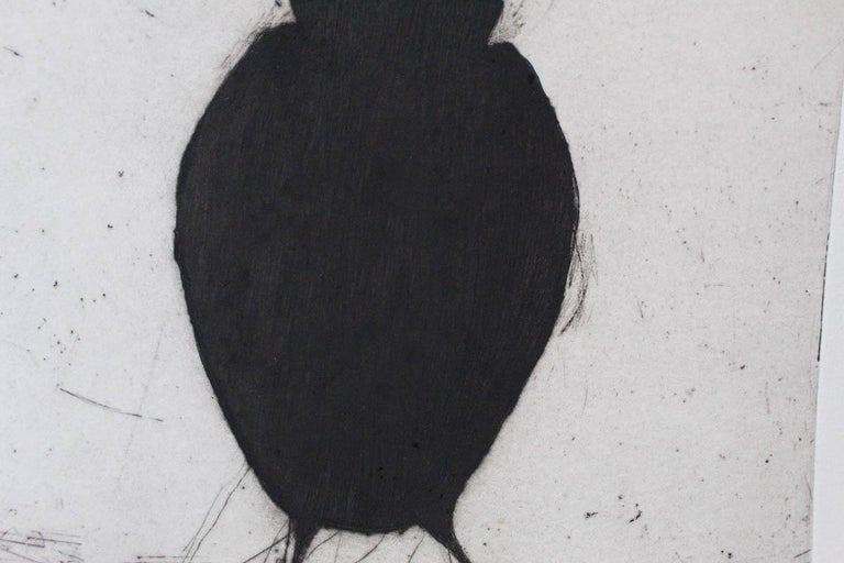 Kate Boxer, Jackdaw, Limited Edition Drypoint Print, Animal Art For Sale 6