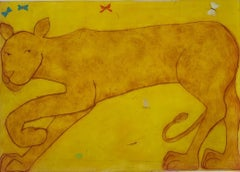 Kate Boxer, Lioness, Limited Edition Contemporary Print, Animal Print