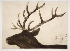 Stag, Kate Boxer, Limited Edition Print, Contemporary Art Print, Affordable Art