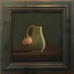Green Vase, Single Gerbera