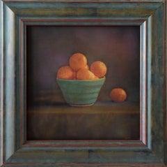 Mandarines in Blue Vase