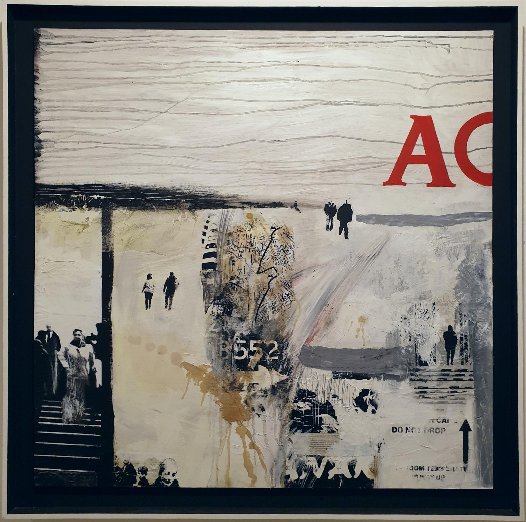 Moving on - contemporary modern abstract figurative painting