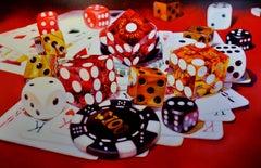 MGM Grand - Kate Brinkworth, photorealist, dice, casino, painting, money, vegas