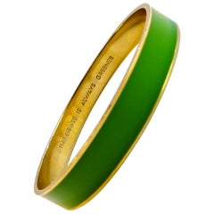 Kate Spade 18 Karat Gold-Plated Enamel Green