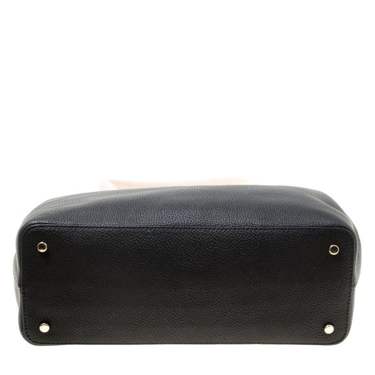 Kate Spade Black Pink Leather Small Henderson Street