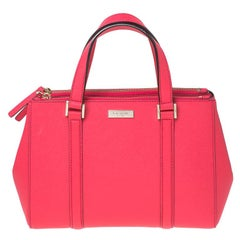 Kate Spade Hot Pink Leather Small Newberry Lane Loden Top Handle Bag