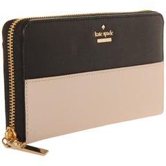 Kate Spade Damen-Brieftasche mit Reißverschluss Cameron Street lacey Tusk/Schwarz