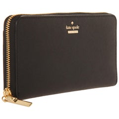 Kate Spade Women zip around wallet Cameron street lacey tusk/black