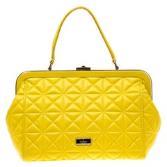 Kate Spade Yellow Quilted Leather Sedwick Place Satchel