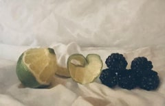 Kate Verrion, Lime and Blackberries, Still Life Art, Realism Painting