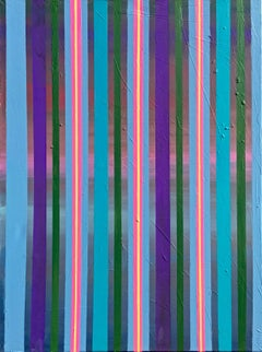 From Dusk Till Dawn - Striped abstract painting
