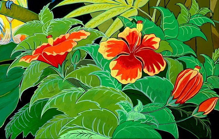 Green Jungle Love by Katharina Husslein Blue Colorful Contemporary Painting For Sale 8