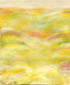 In the Meadow by Katharina Husslein Abstract Yellow Resin Contemporary landscape