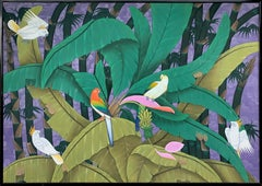 In the Rainforest by Katharina Husslein Large Colorful Contemporary Painting