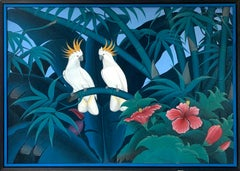 Jungle Love by Katharina Husslein Blue Colorful Contemporary Painting