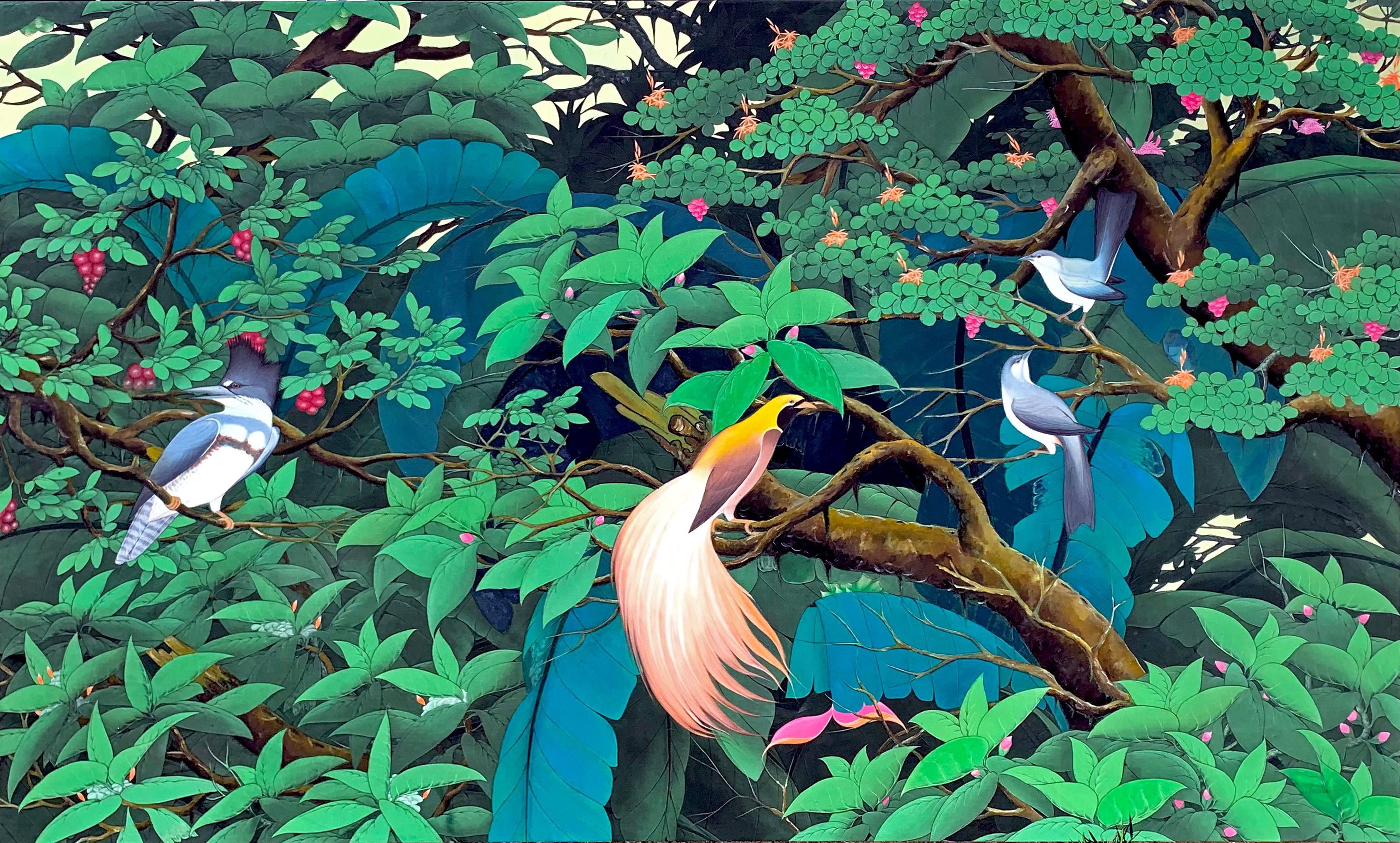 Jungle Love Story by Katharina Husslein Contemporary Landscape