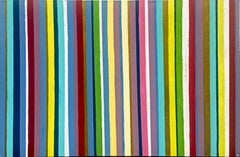 Lines of Colour by Katharina Husslein - Epoxy, Striped abstract painting