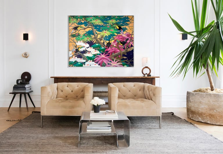 Love in Paradise by Katharina Husslein Contemporary Jungle Landscape Painting For Sale 1