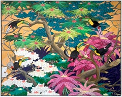 Love in Paradise by Katharina Husslein Contemporary Jungle Landscape Painting
