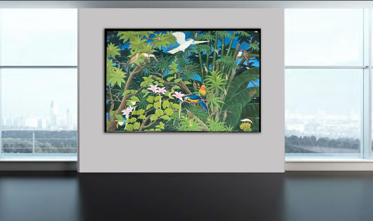 Love taking Flight by K Husslein - Abstract Contemporary Landscape painting For Sale 10