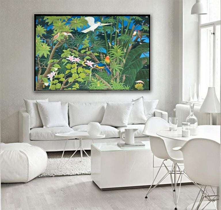 Love taking Flight by K Husslein - Abstract Contemporary Landscape painting For Sale 11