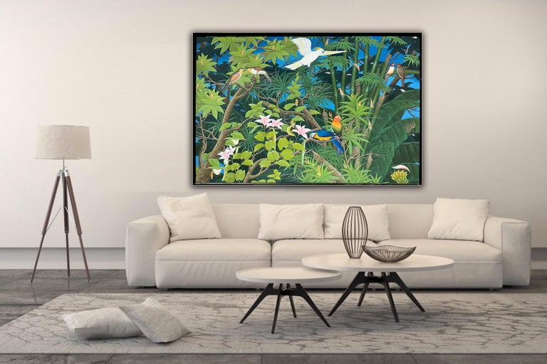 Love taking Flight by K Husslein - Abstract Contemporary Landscape painting For Sale 2