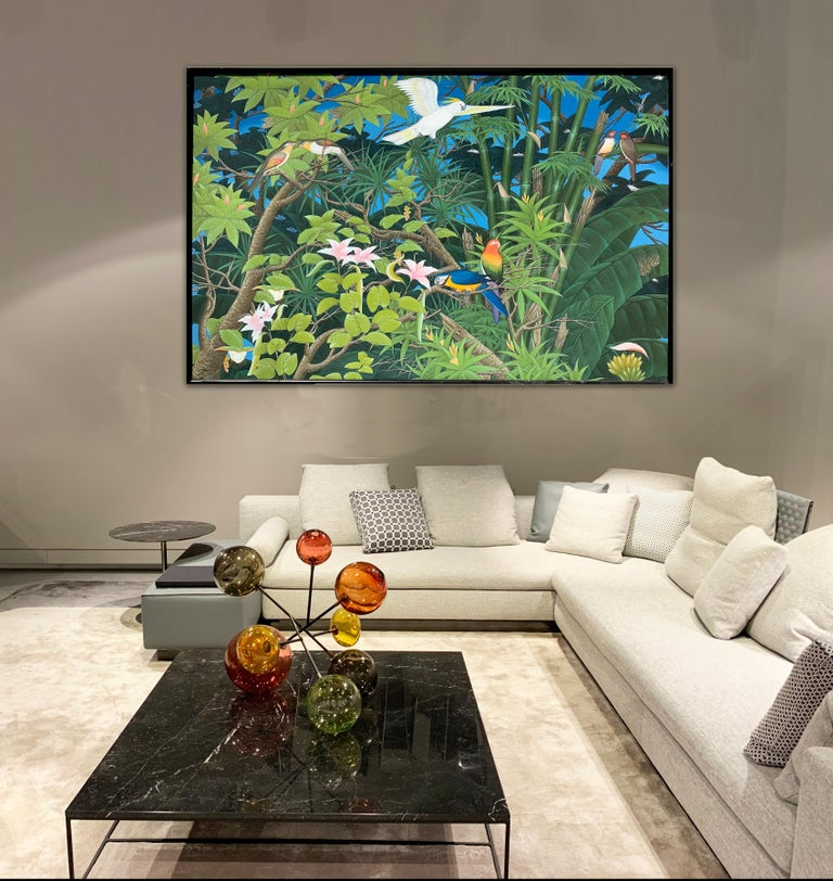 Love taking Flight by K Husslein - Abstract Contemporary Landscape painting For Sale 5