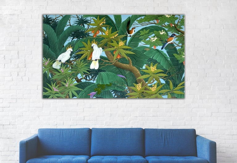 Nature's Love by K Husslein - Contemporary Floral landscape painting For Sale 1