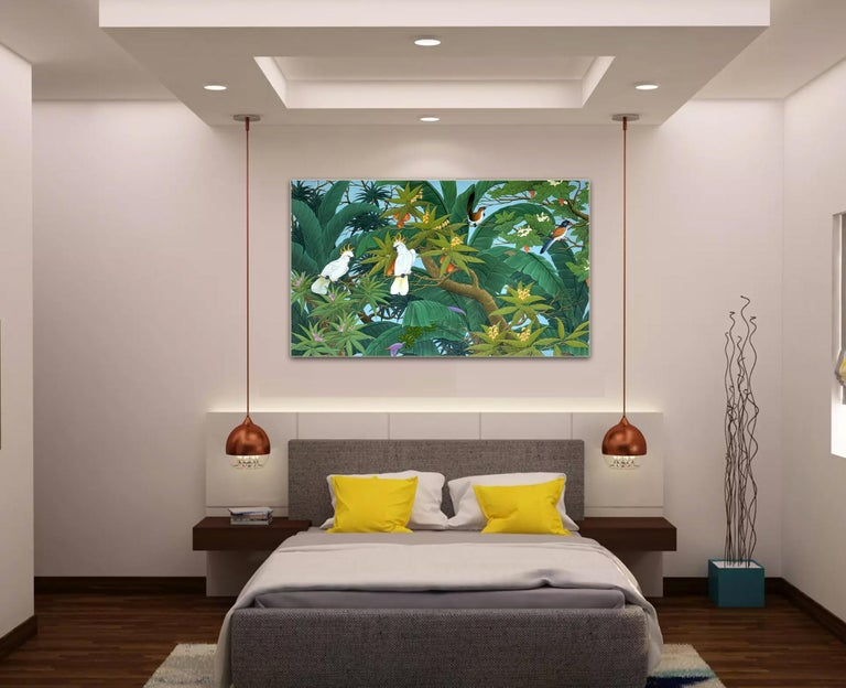 Nature's Love by K Husslein - Contemporary Floral landscape painting For Sale 8