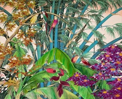 New Beginnings by Katharina Husslein contemporary birds and jungle landscape
