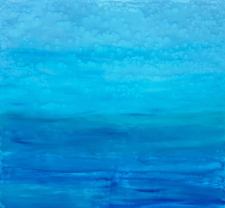 Ocean Reflections - Sea landscape abstract painting - Painting by Katharina Husslein