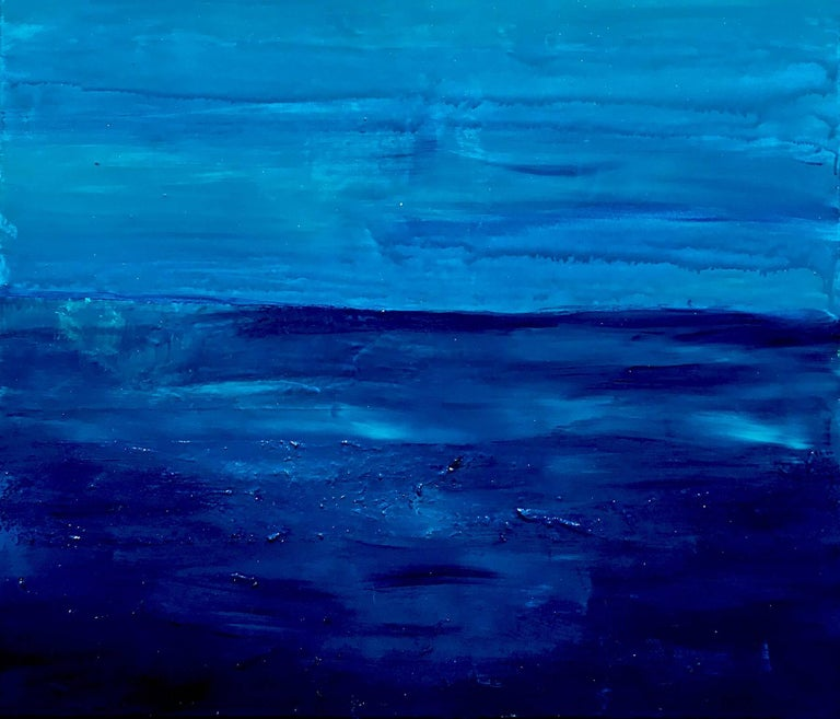 Ocean Reflections - Sea landscape abstract painting - Contemporary Painting by Katharina Husslein