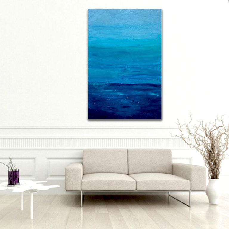 Ocean Reflections - Sea landscape abstract painting For Sale 1
