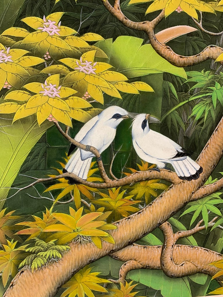 Summer Love by Katharina Husslein contemporary birds and jungle landscape For Sale 2