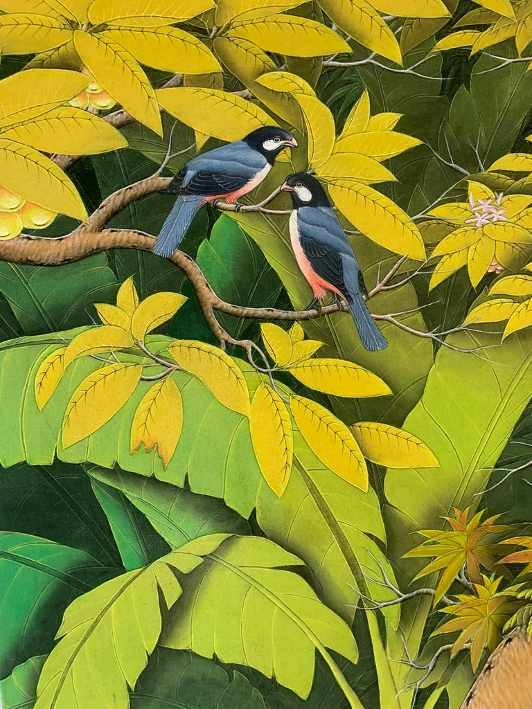 Summer Love by Katharina Husslein contemporary birds and jungle landscape For Sale 3