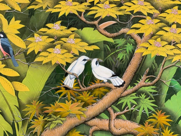 Summer Love by Katharina Husslein contemporary birds and jungle landscape For Sale 5