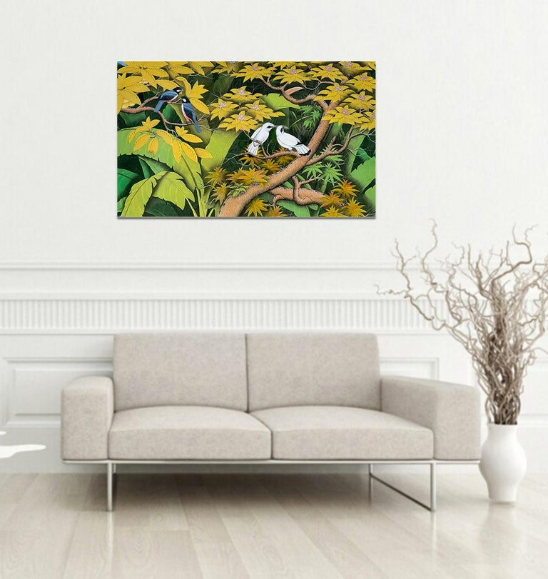 Summer Love by Katharina Husslein contemporary birds and jungle landscape For Sale 6