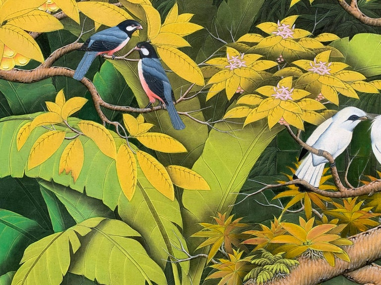 Summer Love by Katharina Husslein contemporary birds and jungle landscape For Sale 7