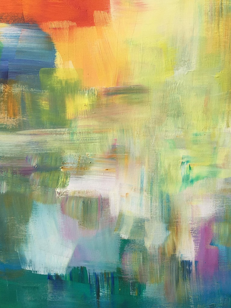 Sun and Light by Katharina Husslein - Four abstract paintings on wood For Sale 4