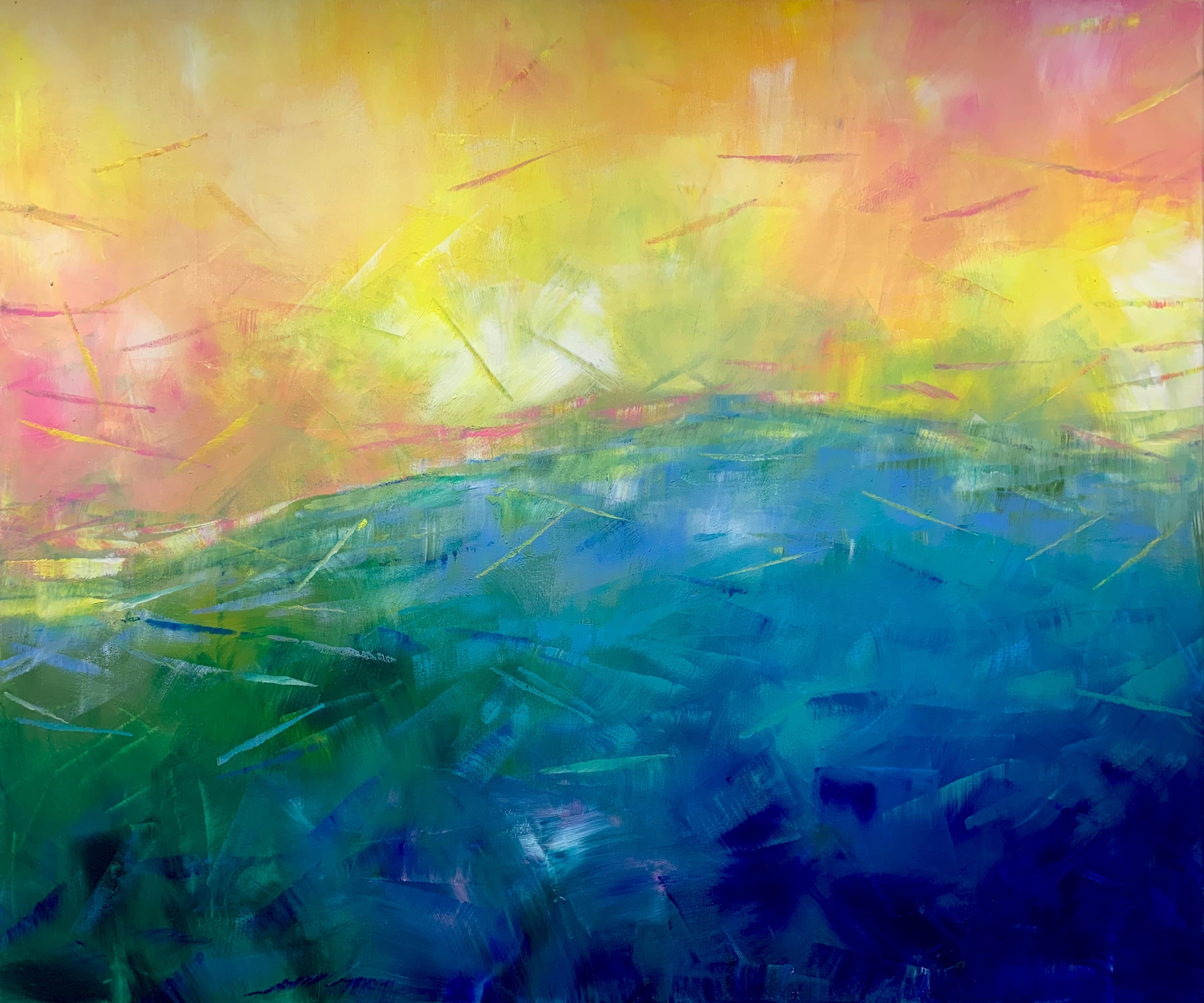 Sunshine on my mind by Katharina Husslein - contemporary abstract landscape