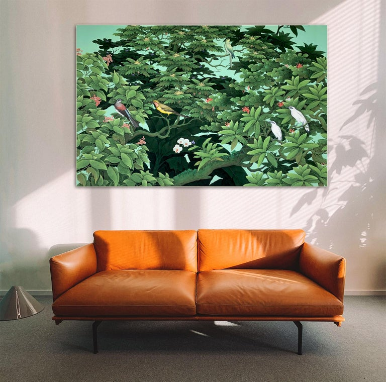 The Sound of Leaves by K Husslein - Abstract Contemporary Landscape painting For Sale 9