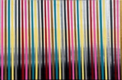 The Way by Katharina Husslein- Contemporary Striped abstract painting