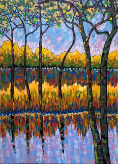 Water Reflections by Katharina Husslein - Water Reflections Impressionist Nature