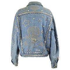 Katharine Hamnett 'Clean Up Or Die' Vintage Blue Denim Studded Jean Jacket