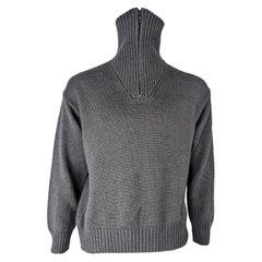 Katharine Hamnett Mens Grey Funnel Neck Sweater